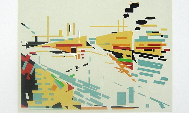 Nadir Afonso - O cais, serigrafia XXV PA, 45x53cm, 1981 BD
