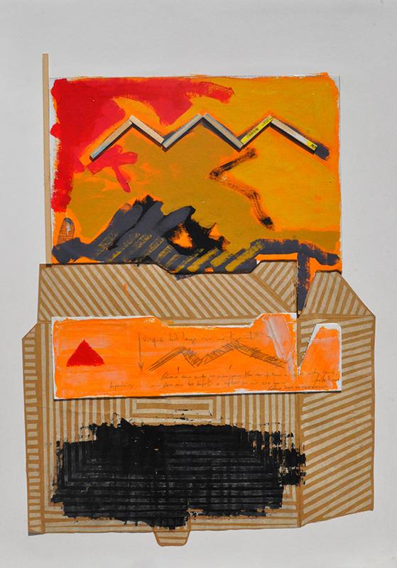 Jose Fonte n15 Titulo Next to the river 3 Técnica mista sobre cartão 100X70 cm Ano 2015
