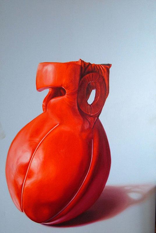 Jorge Abade - Insider in side her face, 2005, oleo s tela, 146x97 BD