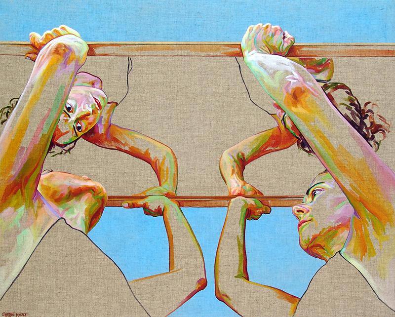 Cristina Troufa - ROOF acrylic on linen canvas 80 x 100 cm 2015 BD