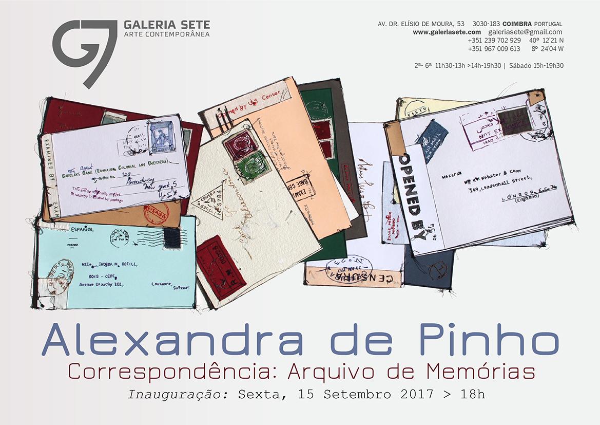 Convite: correspondencia: arquivo de memórias - alexandra de pinho