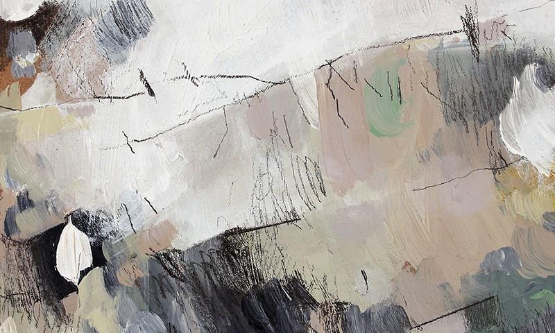Susana Chasse_circular motion 39, acrilico e grafite s mdf, 14x14cm, 2013