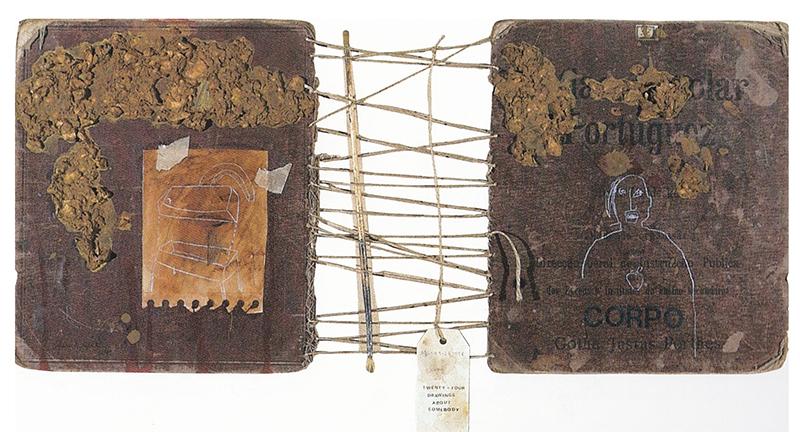 alexandre baptista - CORPO- TWENTY-FOUR DRAWINGS ABOUT SOMEBODY -1999- mista papel, 30x65cm