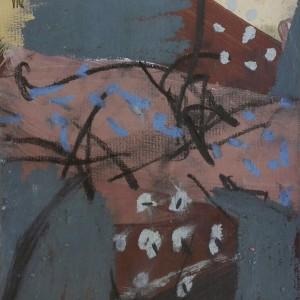 Daniel David – sem título 1, óleo e pastel de óleo sobre cartolina, 14x12cm (25, 5x25,5cm)