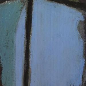 Daniel David – sem título 2, óleo e pastel de óleo sobre cartolina, 14x12cm (25, 5x25,5cm)
