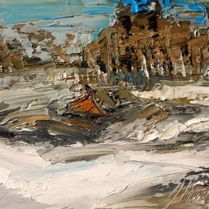 Gema Atoche_paisajes interiores 3, 2017, oleo s cartão, 18x22cm