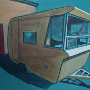 Mimi Tavares, Home and away 3, Acrílico sobre tela, 15x20cm 2017