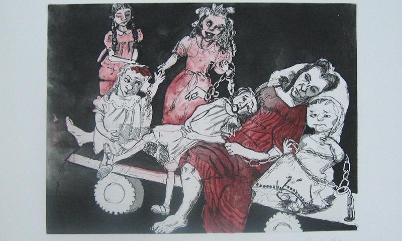Paula Rego - Meninas Noivas II, gravura, hc9-14