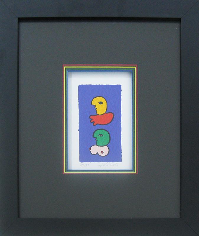 José de Guimarães - sem título 34-99, serigrafia, 47,2x40,7cm (21,5x13cm) BD