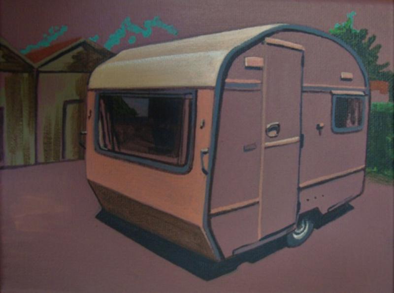 Mimi Tavares, Home and away 5, Acrílico sobre tela, 15x20cm 2017