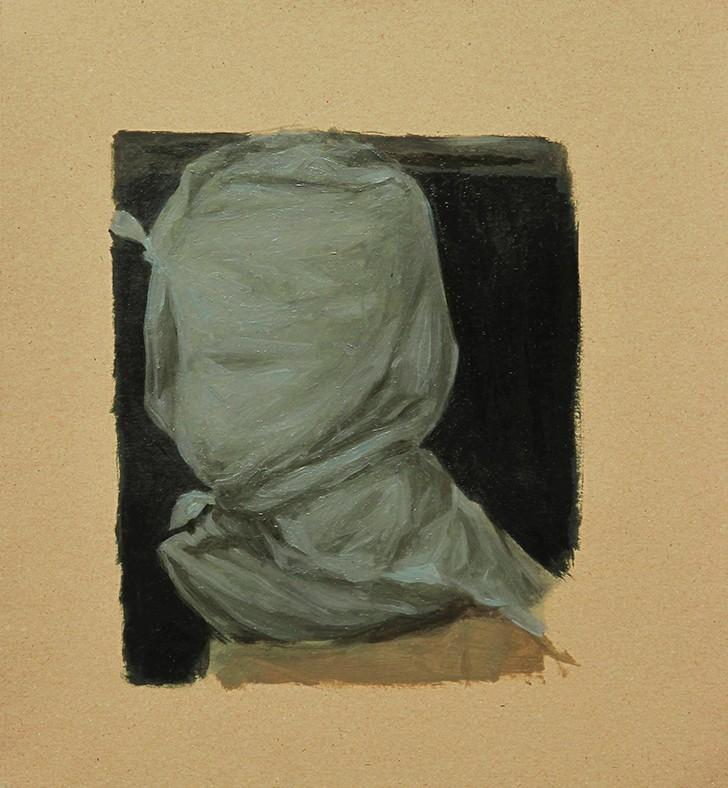 Pedro Pascoinho- uncertain - 2012, oleo sobre papel, 26x23cm