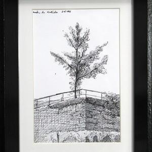 Alexandre Coxo, Desenho 2, tinta s papel, 2018, A6, 21x15cm