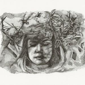 Daniela Nunes, Camuflado camufla camuflado 1, caneta s papel, 2018, 30x40cm