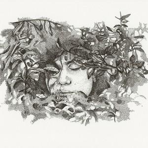 Daniela Nunes, Camuflado camufla camuflado 2, caneta s papel, 2018, 30x40cm