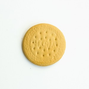 Sofia Mascate - Bolacha maria, 2018, oleo s porcelana, 1 de 3, 6cm diam,