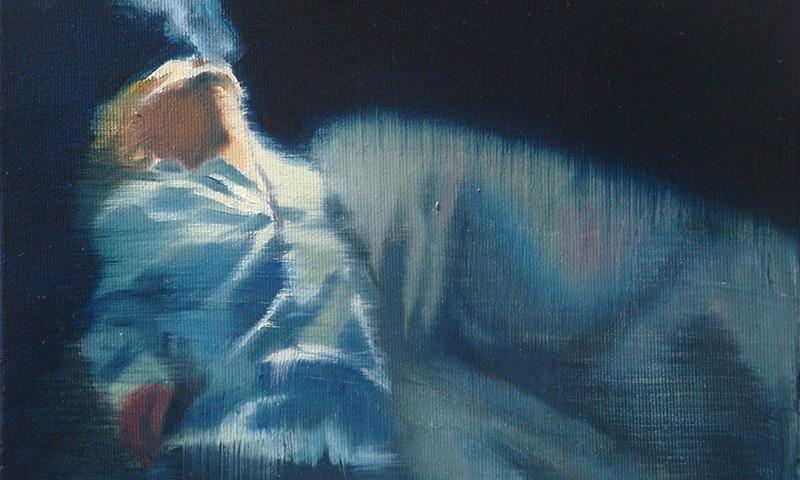 António Trindade - Ecstasy, 21x26cm, 2018, oleo s tela