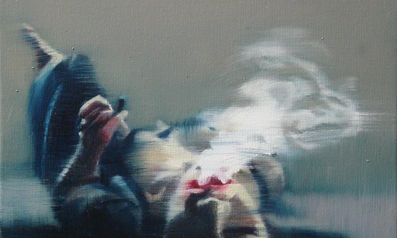 António Trindade - The Smoker #II, 21x26cm,2018, oelo s tela