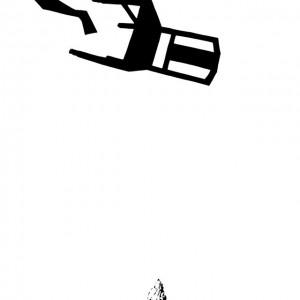 António Olaio - Na catedra de S pedro_5, tinta da china s papel, 50x40cm, 2010 BD