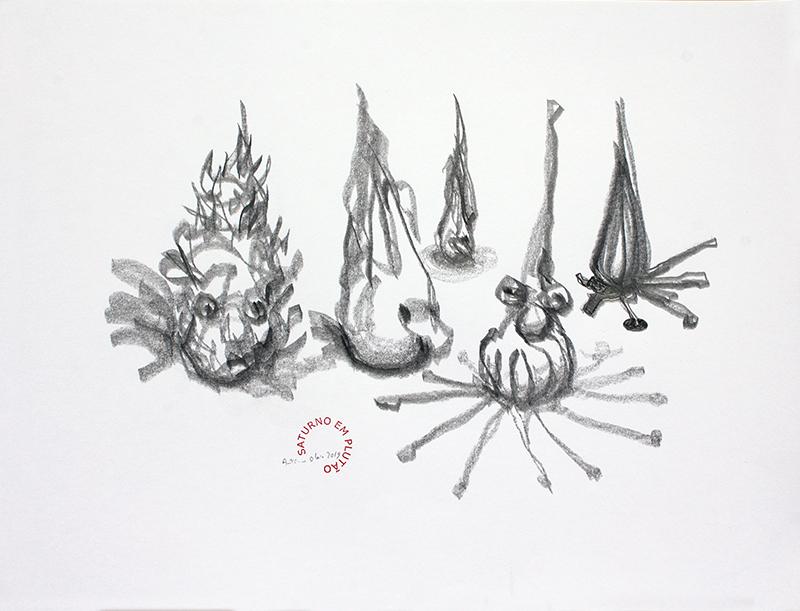 António Olaio - saturno em plutão 14 B, grafite s papel, 42x55cm, 2019
