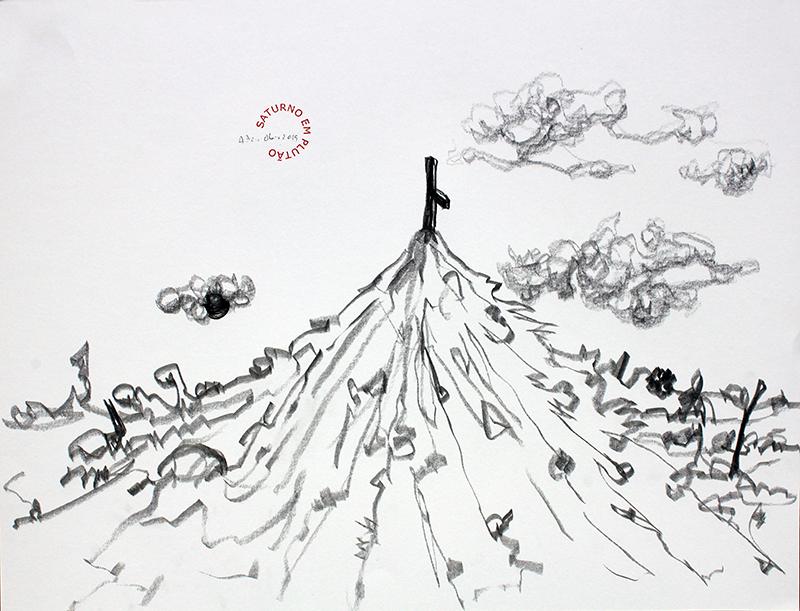 António Olaio - saturno em plutão 6 B, grafite s papel, 42x55cm, 2019