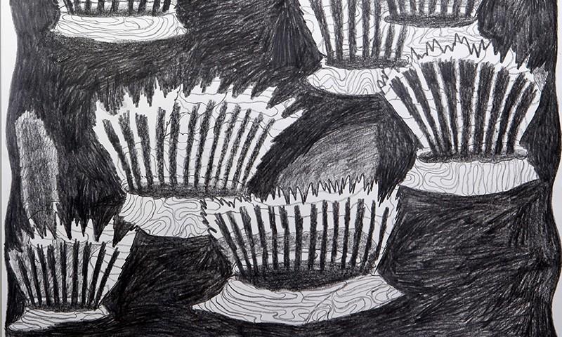 Luis Silveirinha - Saturno em plutao 12A ,grafite sobre papel, 55x47 cm, 2019
