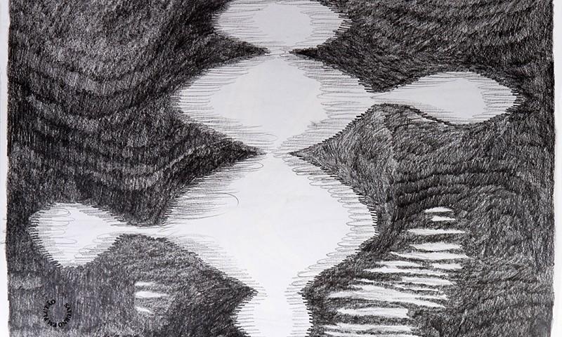 Luis Silveirinha - Saturno em plutao 7A ,grafite sobre papel, 55x47 cm, 2019