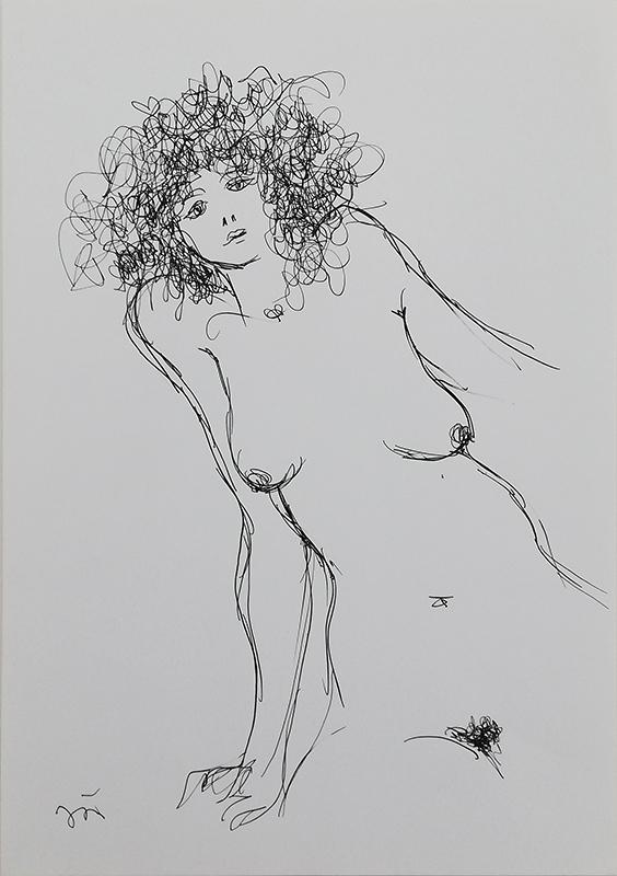 João Cutileiro - Sem título - 29,7x21cm, sem data, caneta s papel