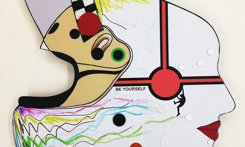 João Noutel - be yourself - mista s MDF recortado, 2016, 75x87cm BD