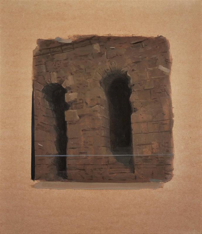 Pedro Pascoinho - 02-entrance 62x54cm oleo s papel 2016
