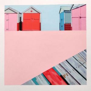 Gabriel Colaço, Huts 9, acrilico s papel, 50x50cm
