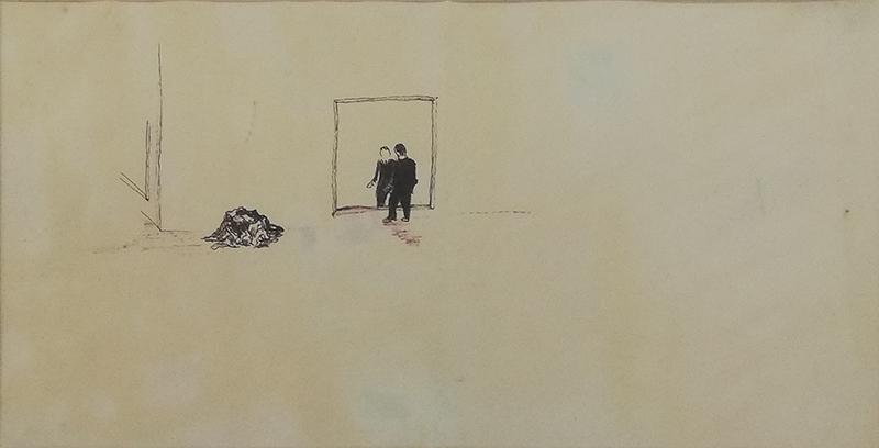 Jorge Queiroz, st, 1993, 14x24cm, carvão s papel BD