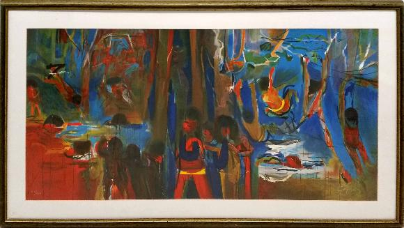 Julio Pomar - La baignade des enfants dans le Tutuari