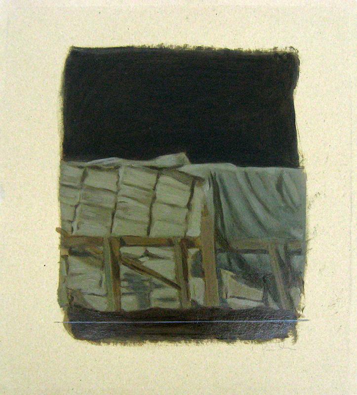 Pedro Pascoinho - uncovered - oleo sobre papel , 40x35cm
