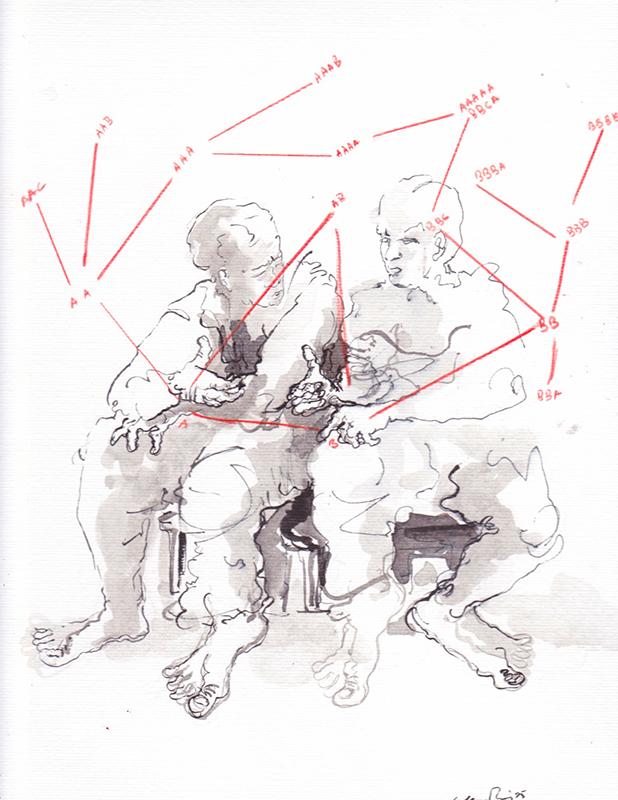Susana Pires A+B=AAAABBCA(divergências), 2015, 32,5x22,5cm