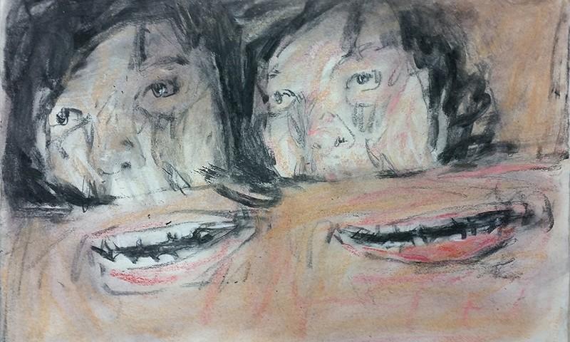 Joao Jacinto - st4, 2016, 53x78cm, mista s papel