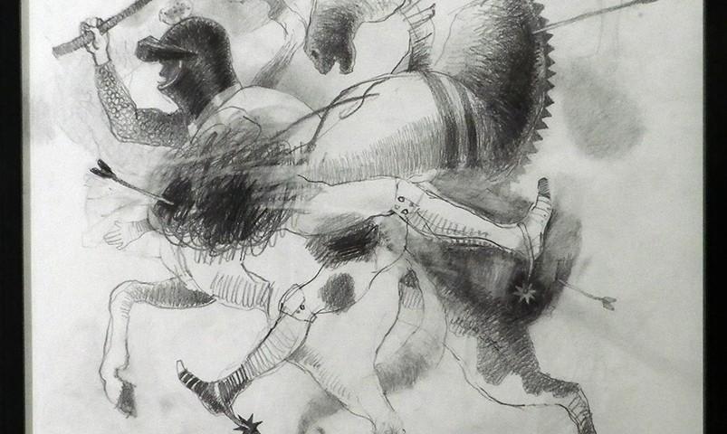 António Melo - Guernica, 2017 50x50cm, Grafite sobre papel