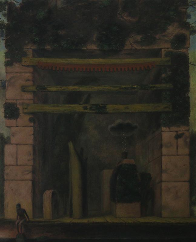 António Melo - MOMENTO SABÁTICO (NAVIDA ATRIBULADA DE UMA ATRIZ), 90x73 óleo s tela
