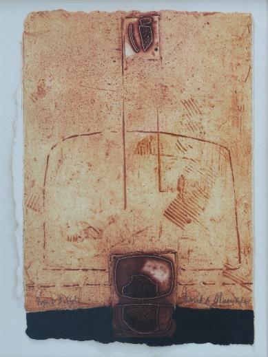 David de almeida - Prova de artista, gravura 1991