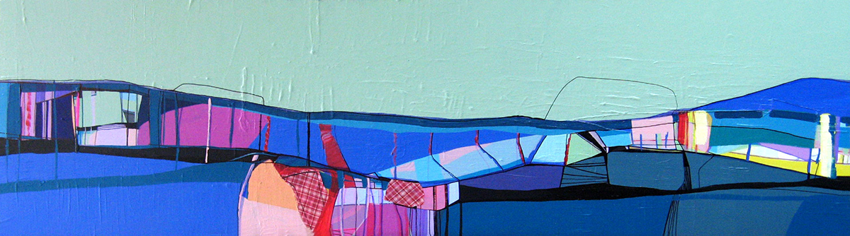 Ana Pais Oliveira - Quase deserto II, acrilico e tecido s tela 2009, 45x166cm AP
