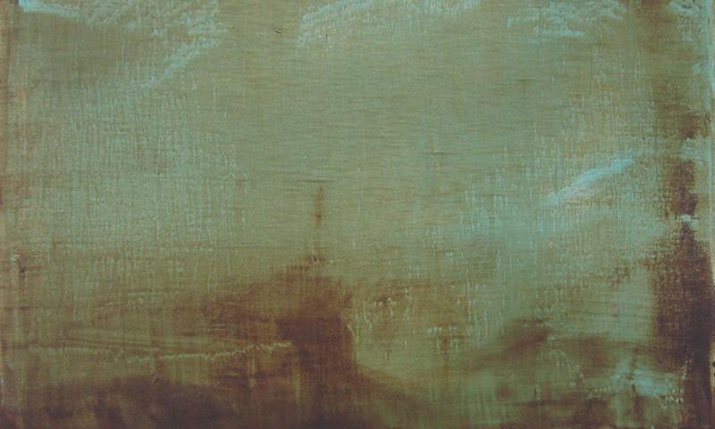 Pedro Andrade - Take leave II, 2014-15, 33x45cm. acrílico sobre tela