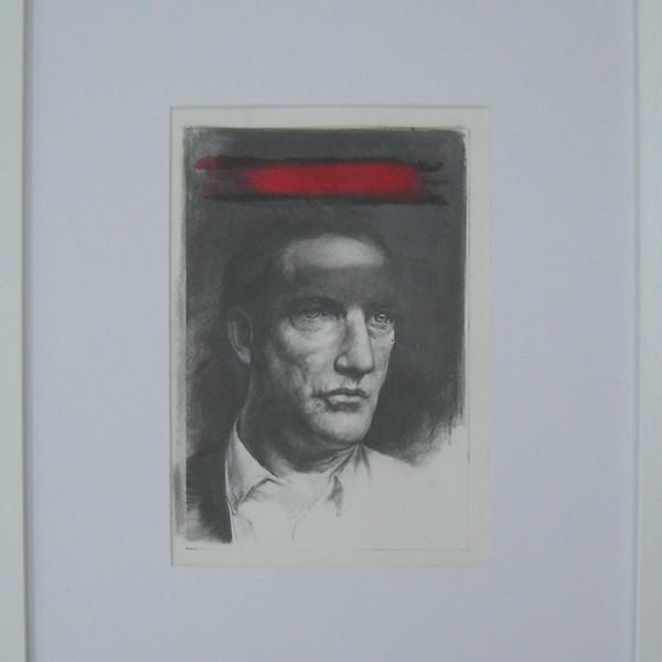 Jorge Abade - Red thought, 2017, 29,7x21cm, grafite e ecoline em papel