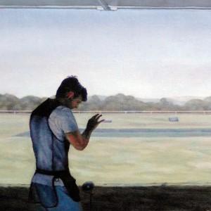 Alexandre Coxo, tiro, 2015, oleo s tela, 24x26cm