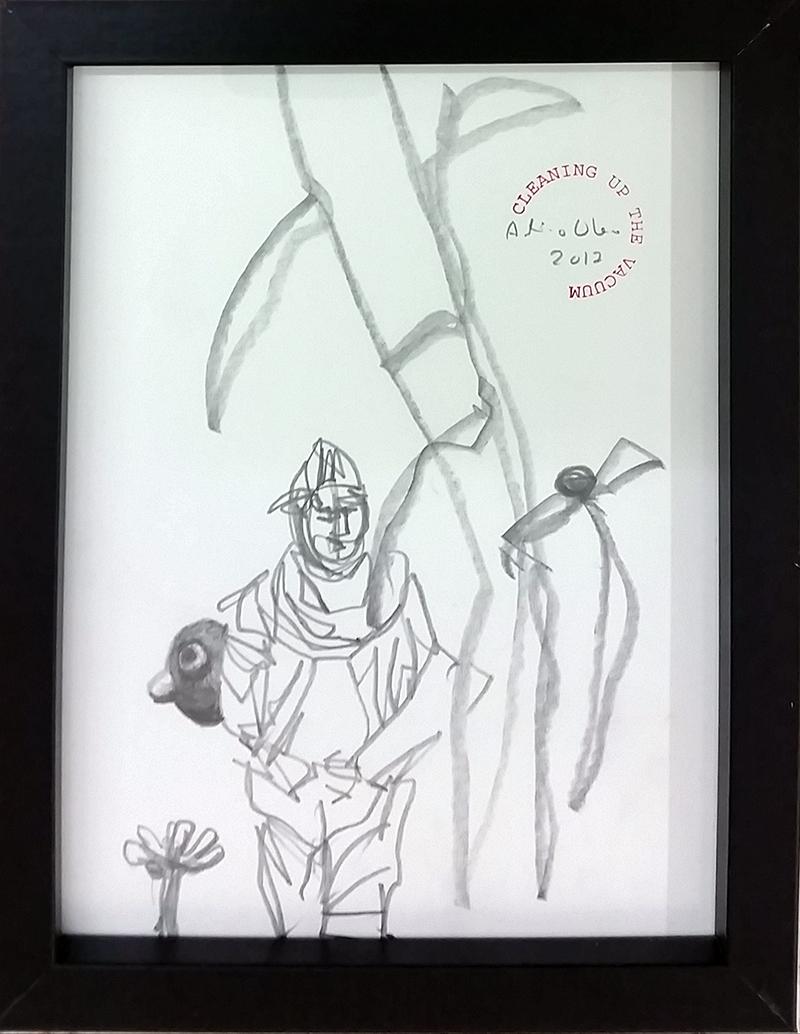 António Olaio_sem titulo 1, 2017, grafite s papel, 19x14cm