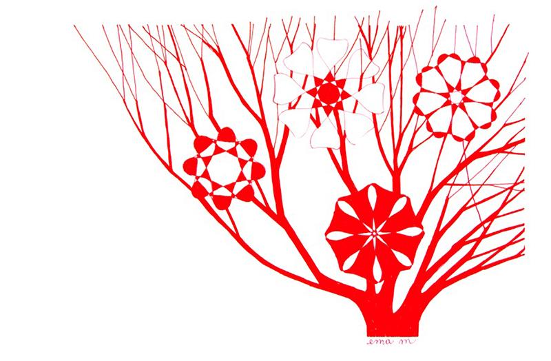 Ema M, 2017, Árvore 1, 14x21cm, esferográfica sobre papel