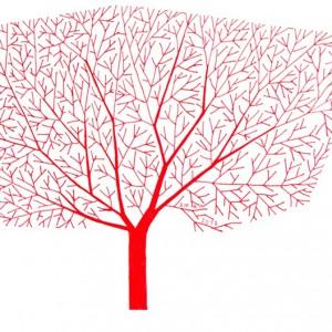 Ema M, 2017, Árvore 10, 14x21cm, esferográfica sobre papel