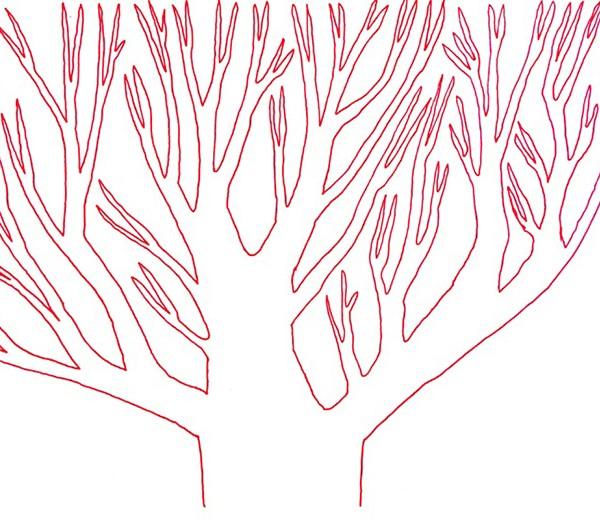 Ema M, 2017, Árvore 13, 14x21cm, esferográfica sobre papel