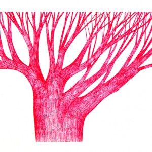 Ema M, 2017, Árvore 14, 14x21cm, esferográfica sobre papel
