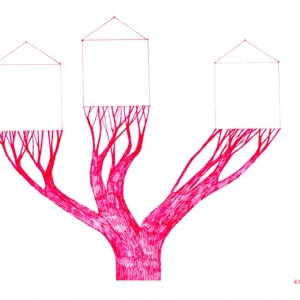 Ema M, 2017, Árvore 16, 14x21cm, esferográfica sobre papel