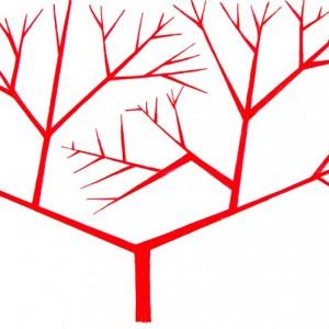 Ema M, 2017, Árvore 7, 14x21cm, esferográfica sobre papel