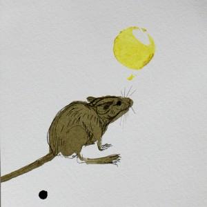 Engracia Cardoso -desenho a tinta da china s papel, 2017, 11x10cm